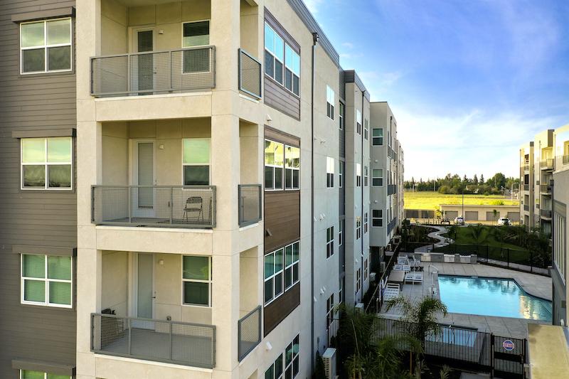 Allure Apartments Multi Family Residential Construction General Contractor Near Me Modesto Stockton Exterior Corner Balconies