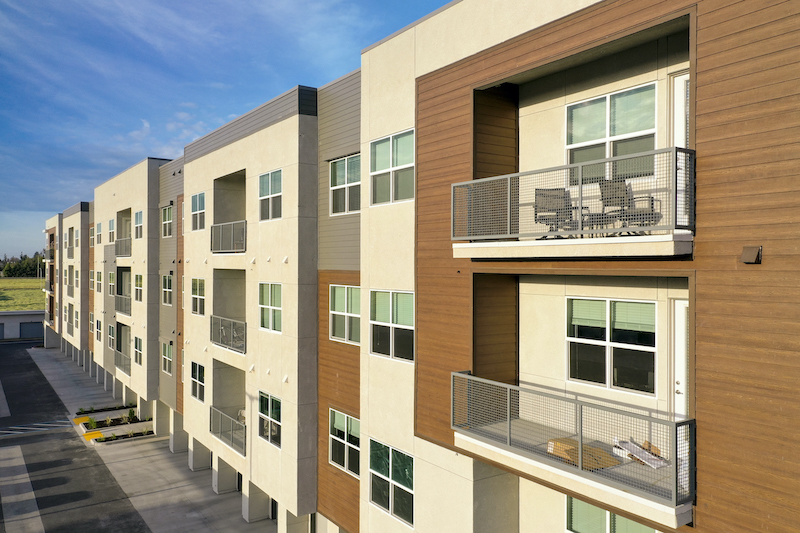 Allure Apartments Multi Family Residential Construction General Contractor Near Me Modesto Stockton Exterior Between Buildings Units