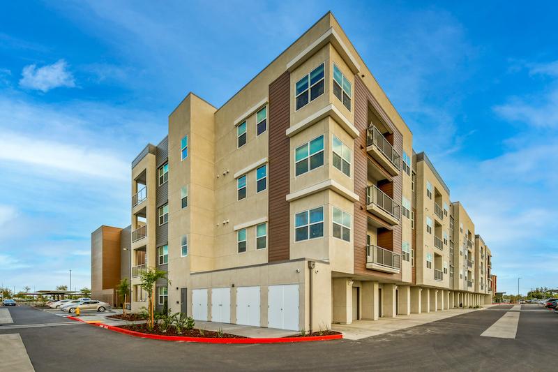 Allure Apartments Multi Family Residential Construction General Contractor Near Me Modesto Stockton Corner Garage Units View