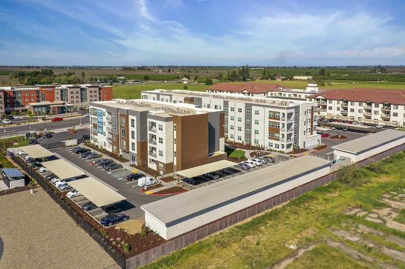 Allure Apartments Multi Family Residential Construction General Contractor Near Me Modesto Stockton Aerial Complex View Side