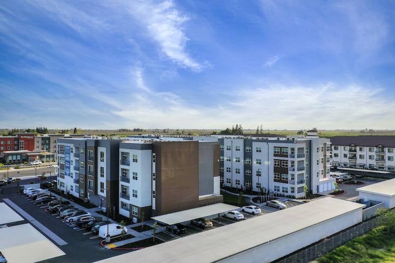 Allure Apartments Multi Family Residential Construction General Contractor Near Me Modesto Stockton Exterior Side View Complex