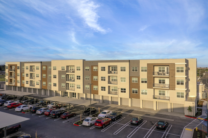 Allure Apartments Multi Family Residential Construction General Contractor Near Me Modesto Stockton Exterior Building Garages Units