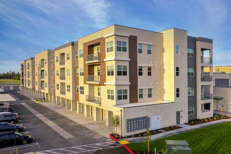 Allure Apartments Multi Family Residential Construction General Contractor Near Me Modesto Stockton Exterior Building Units Side View
