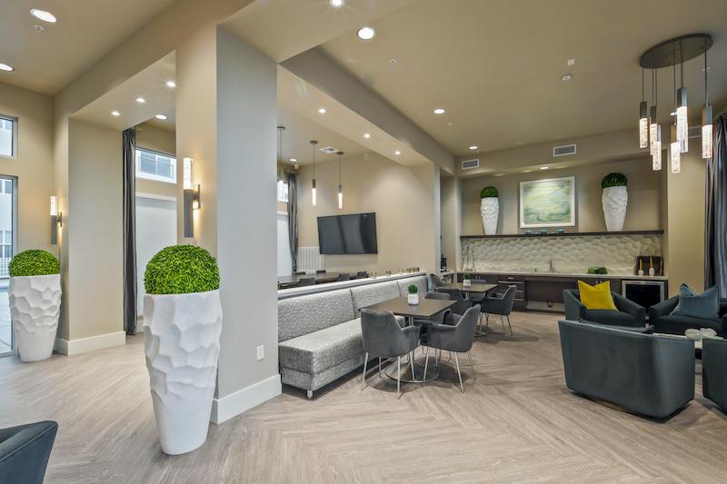 Allure Apartments Multi Family Residential Construction General Contractor Near Me Modesto Stockton Lobby Interior