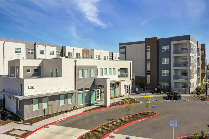 Allure Apartments Multi Family Residential Construction General Contractor Near Me Modesto Stockton Clubhouse Entrance