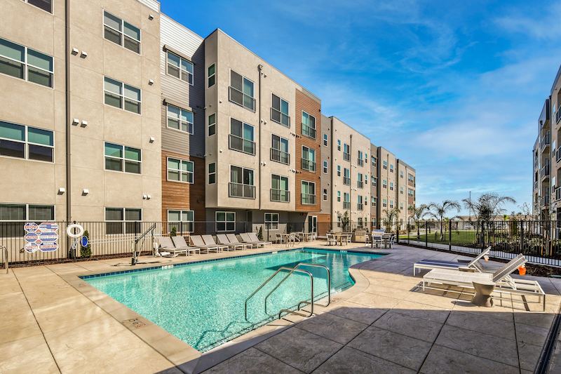 Allure Apartments Multi Family Residential Construction General Contractor Near Me Modesto Stockton Exterior Pool Side