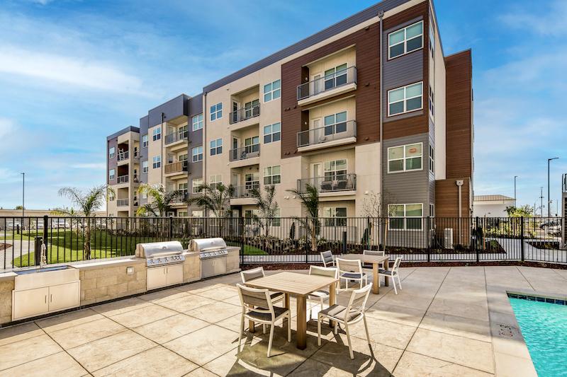 Allure Apartments Multi Family Residential Construction General Contractor Near Me Modesto Stockton Exterior Pool BBQ Area