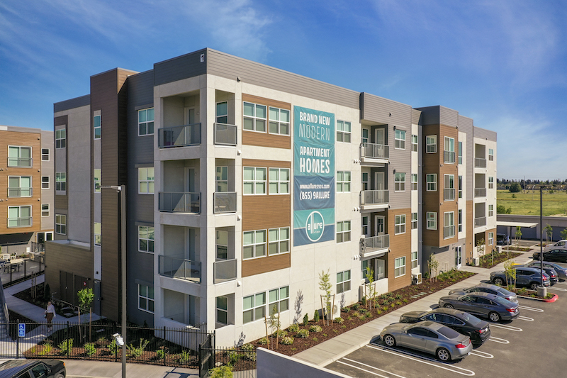 Allure Apartments Multi Family Residential Construction General Contractor Near Me Modesto Stockton Building Units View