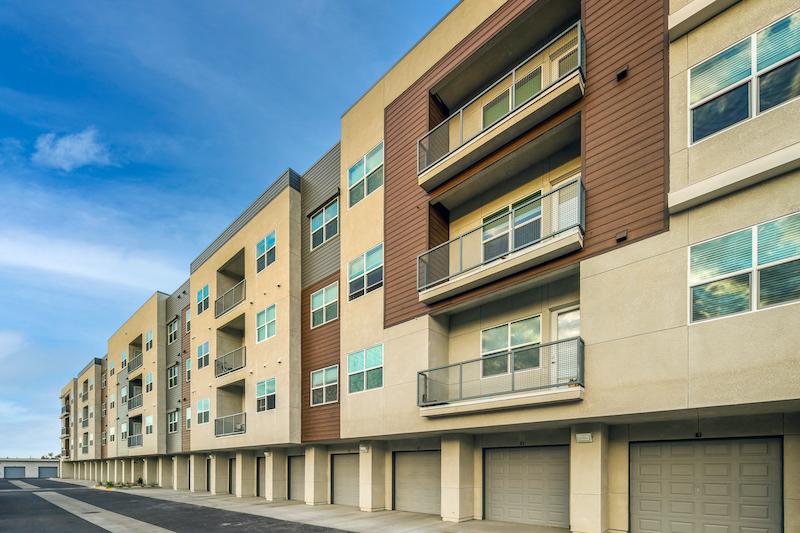 Allure Apartments Multi Family Residential Construction General Contractor Near Me Modesto Stockton Garage Units View