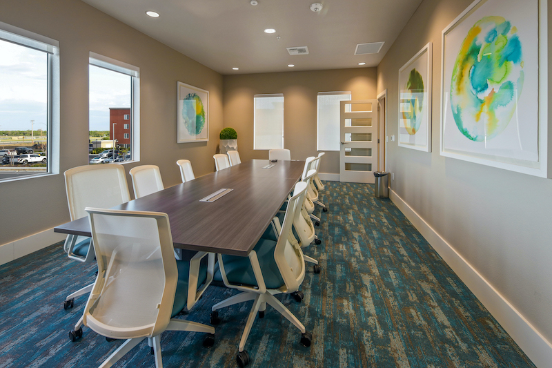 Allure Apartments Multi Family Residential Construction General Contractor Near Me Modesto Stockton Clubhouse Conference Room