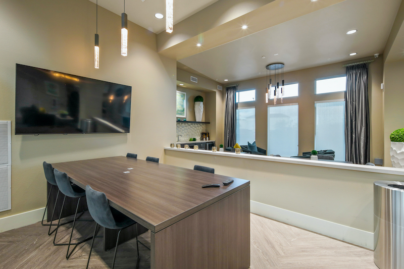 Allure Apartments Multi Family Residential Construction General Contractor Near Me Modesto Stockton Interior Work Station Clubhouse