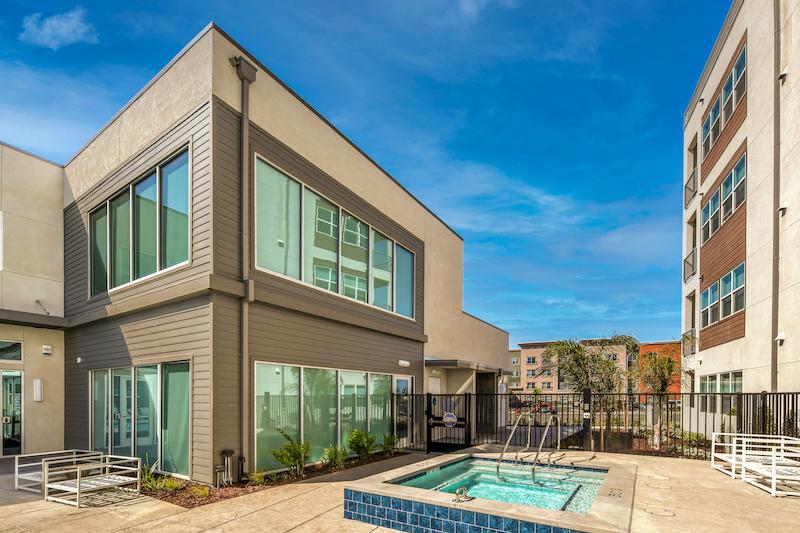 Allure Apartments Multi Family Residential Construction General Contractor Near Me Modesto Stockton Hottub View