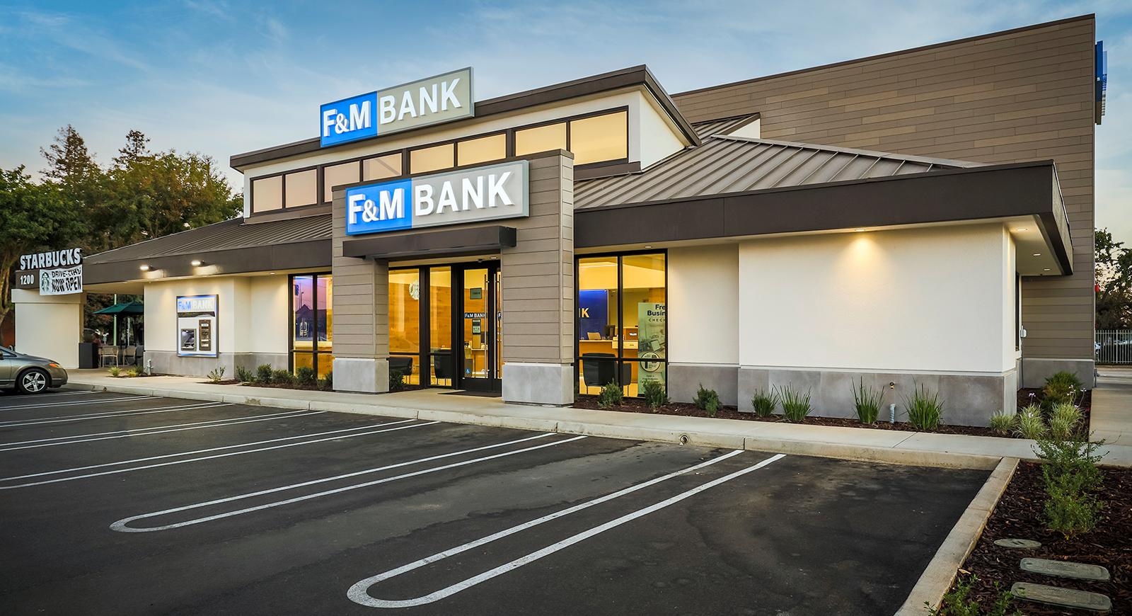 F&M Bank Commercial Construction General Contractors Galt