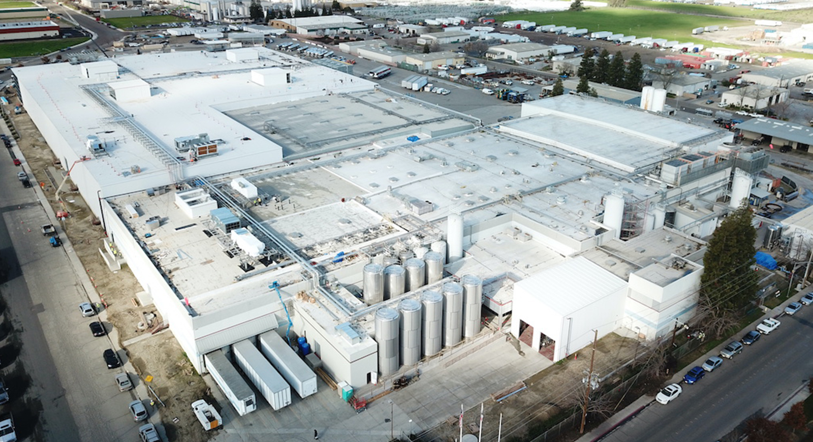 Super Stores Inc Turlock Industrial Manufacturing Warehouse Cold Storage Facility Plant General Contractor Building Exterior