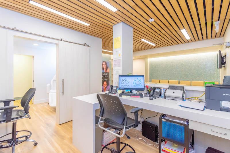 Gill Medical Healthcare Commercial Construction General Contractors Office Building Tenant Improvements Reception Area