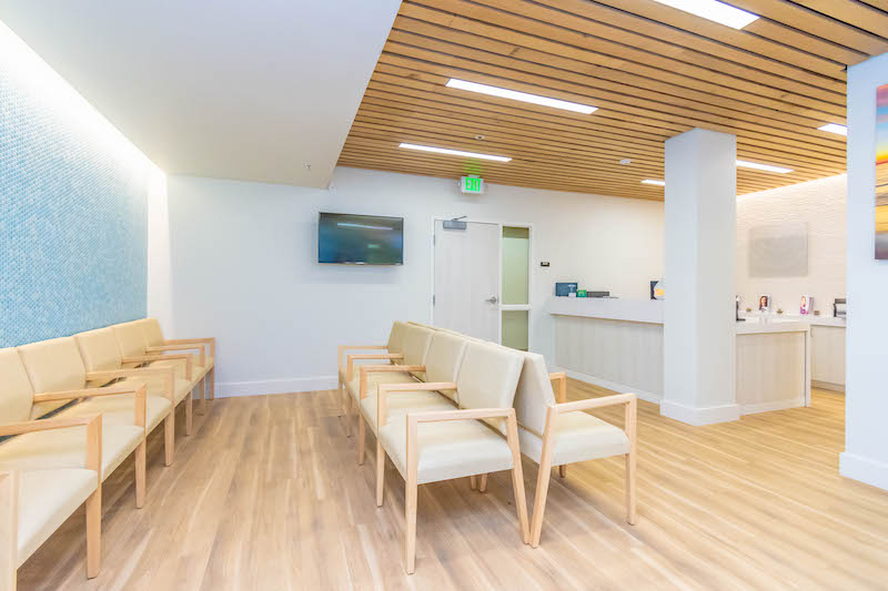 Gill Medical Healthcare Commercial Construction General Contractors Office Building Tenant Improvements Waiting Area