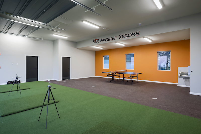 The Reserve at Spanos Park Golf Facility Commercial Construction General Contractors Near Me Stockton Interior Range Room