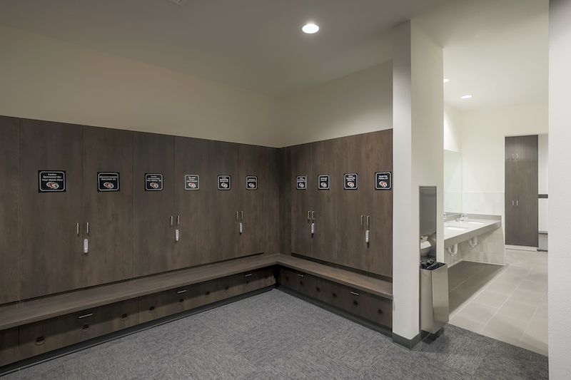 The Reserve at Spanos Park Golf Facility Commercial Construction General Contractors Near Me Stockton Interior Locker Room