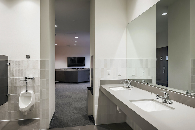 The Reserve at Spanos Park Golf Facility Commercial Construction General Contractors Near Me Stockton Interior Restroom