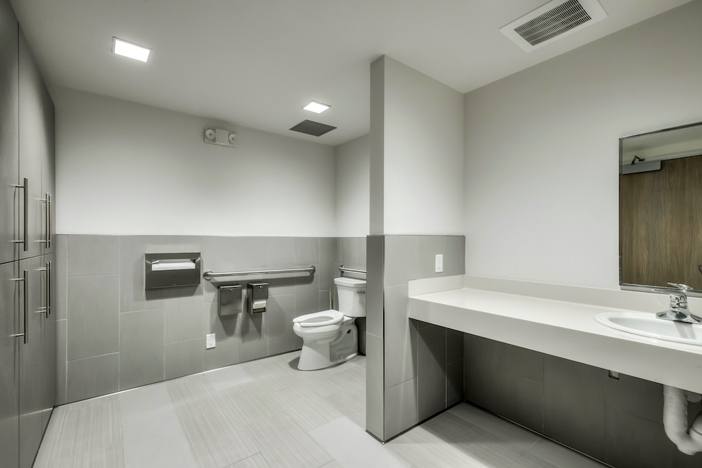 BAC Community Bank Commercial Construction Companies Near me General Contractor Brentwood East Bay Bathroom