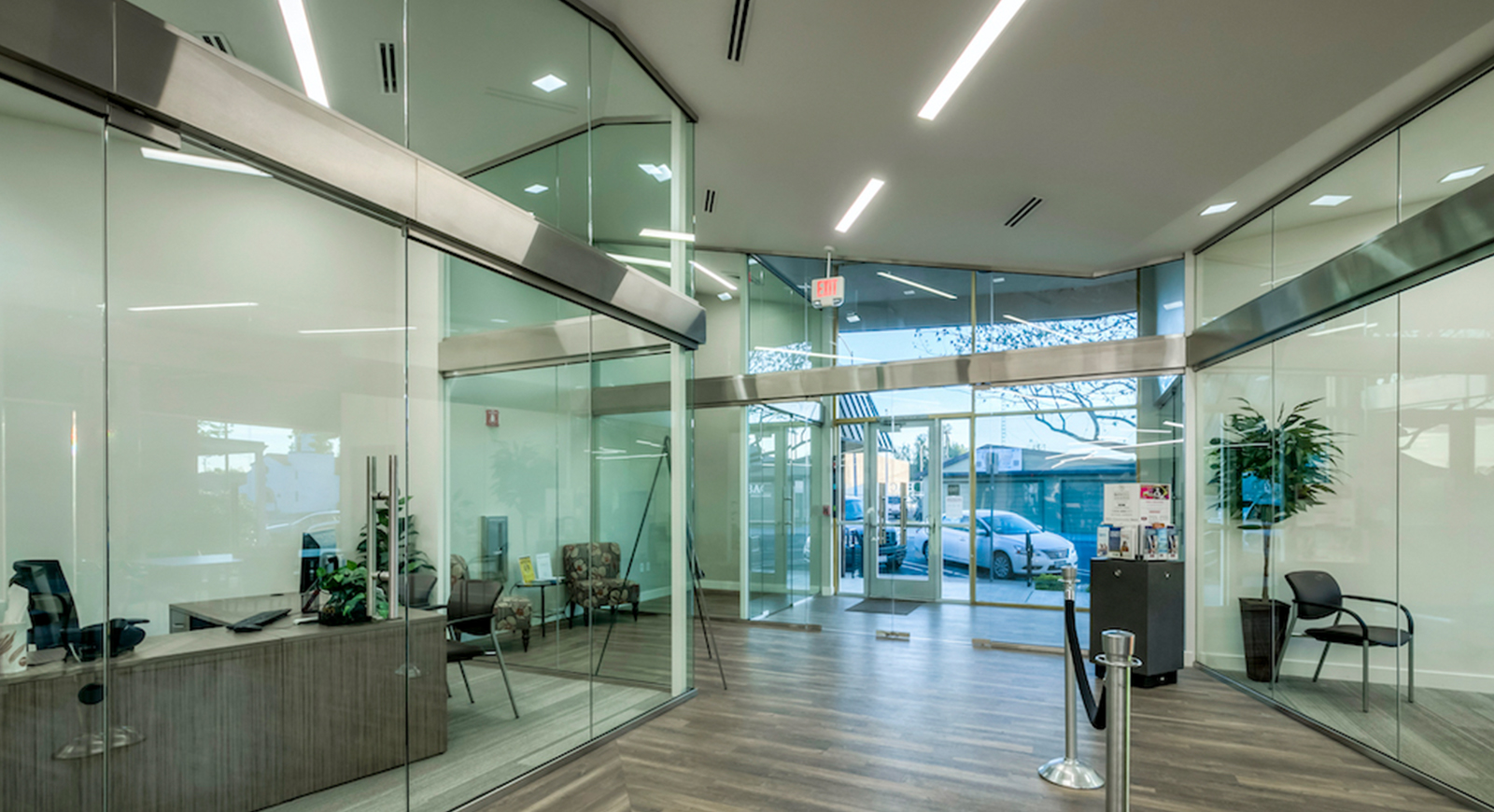 BAC Community Bank Commercial Construction Companies Near me General Contractor Brentwood East Bay Glass Walls