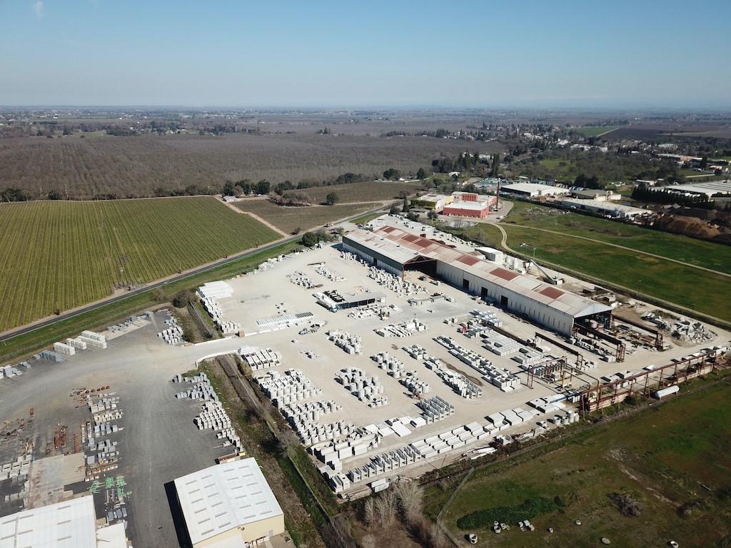 Jensen Precast Industrial Construction Companies Near Me General Contractor Warehouse Stockton Aerial Exterior View