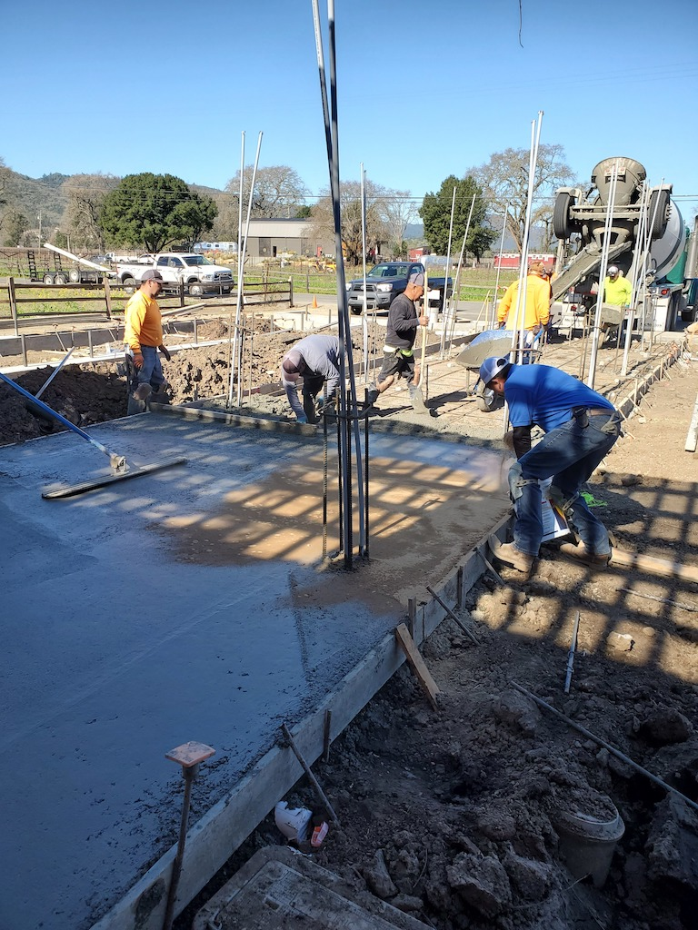 Bell Wine Cellars Remodel Renovation Commercial Construction Companies Near Me General Contractor Napa Winery Vineyard Concrete Pour