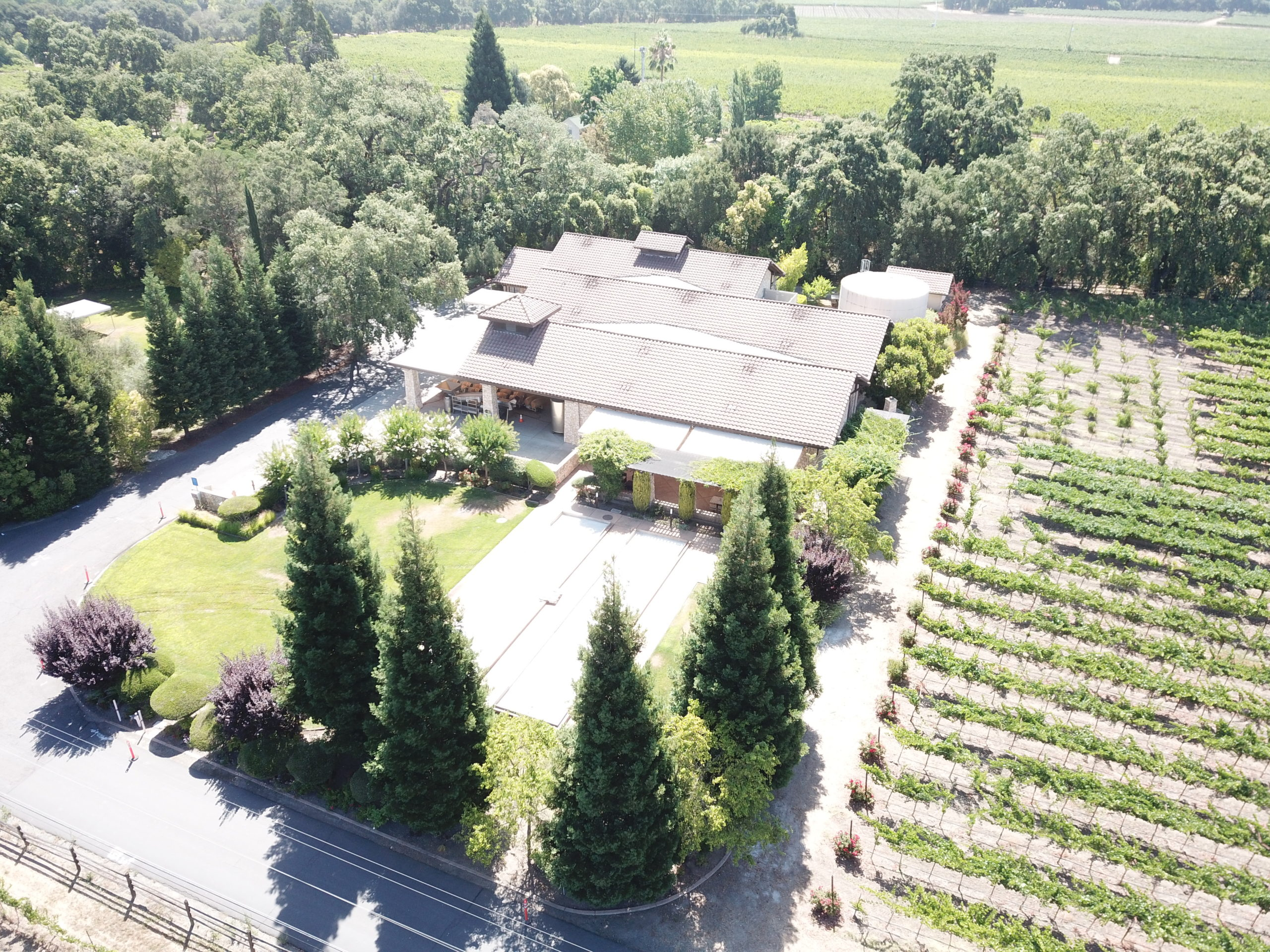 Bell Wine Cellars Remodel Renovation Commercial Construction Companies Near Me General Contractor Napa Winery Vineyard Aerial View
