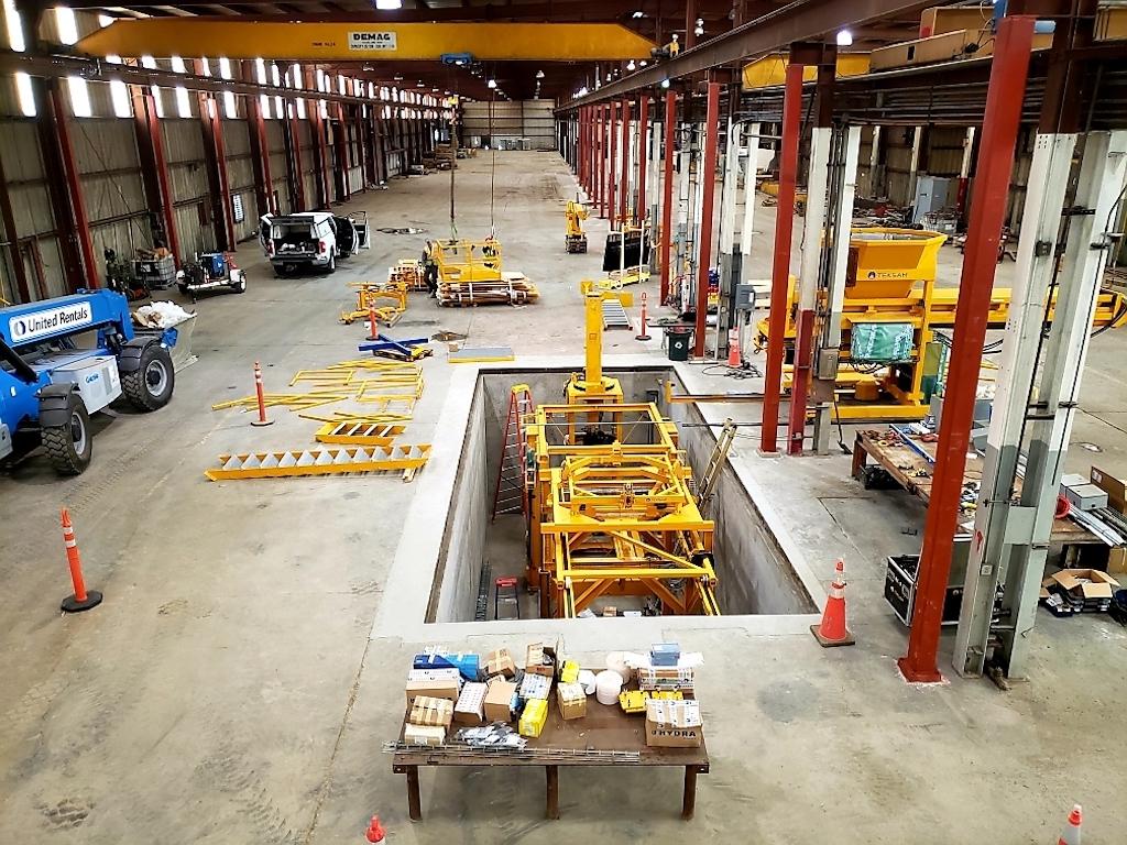 Jensen Precast Industrial Construction Companies Near Me General Contractor Warehouse Stockton Interior Pit